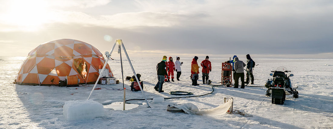 MOSAiC Sea and Ice Training, ROV tent, © Alfred Wegener Institute, Roland Kerstein